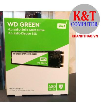 Ổ cứng SSD WD Green 480GB M.2 2280 M.sata (WDS480G2G0B)