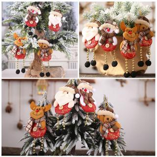 Christmas Decoration Plaid Button Bead Leg Pendant Elk Old Hanging Creative C6T0