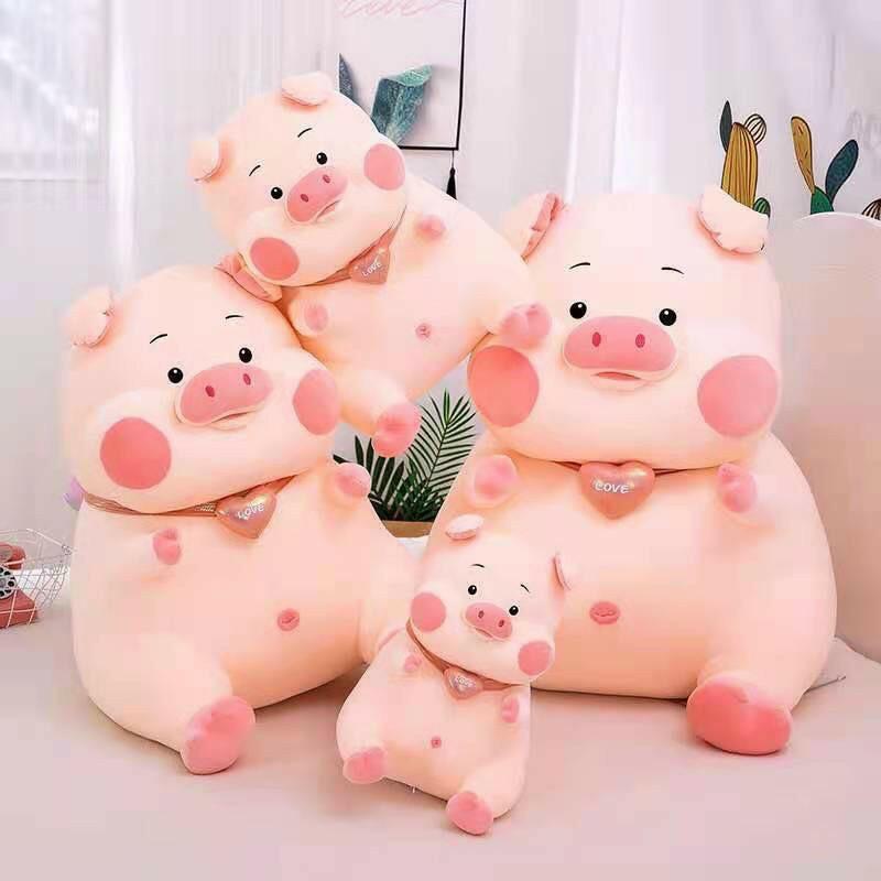 Heo Bông Cổ Tim – Lợn Nhồi Bông Cao Cấp