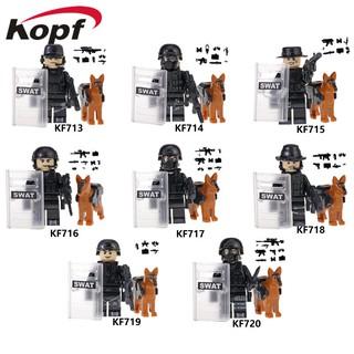 Xếp Hình Minifigures Lính Đặc Nhiệm SWAT KF6067 – Đồ Chơi Lắp Ráp Sáng Tạo