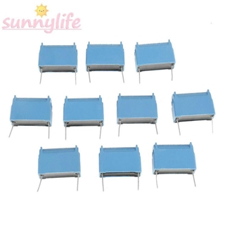 Capacitor For induction cooker 10pcs 35x15x26mm Blue Inverters Flame retardant Pole Replacement Electronic Useful