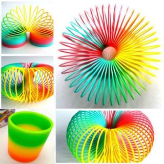 Baby Toys Mix Color Creative Plastic Spring Ring Toys