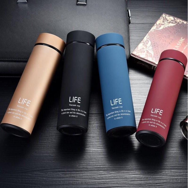 [FREESHIP] Bình giữ nhiệt chất lượng cao ruột inox LIFE 500ml