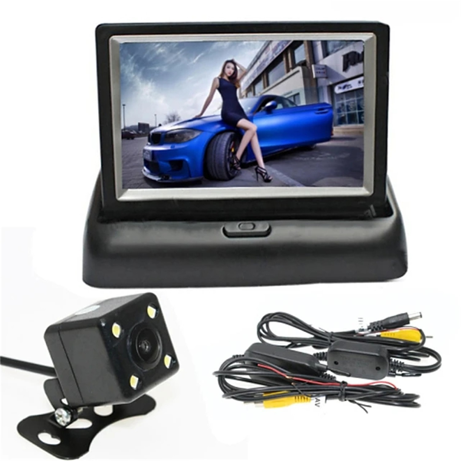 [Featured Collection] 4.3-inch folding wireless display + wireless 4led night vision camera