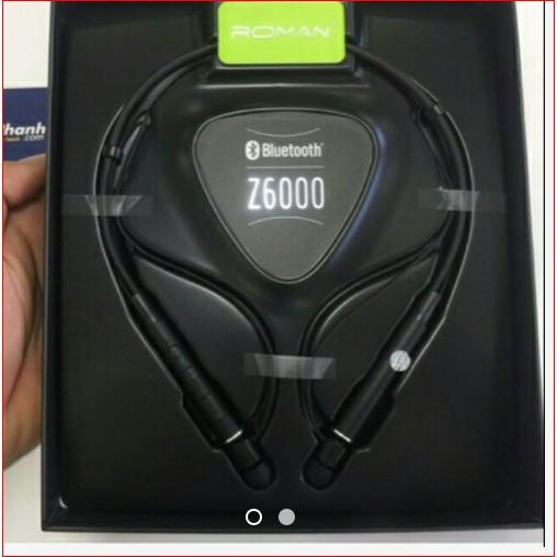 [Mã 267ELSALE hoàn 7% đơn 300K] Tai Bluetooth ROMAN Z6000 THỂ THAO - Hàng Zin