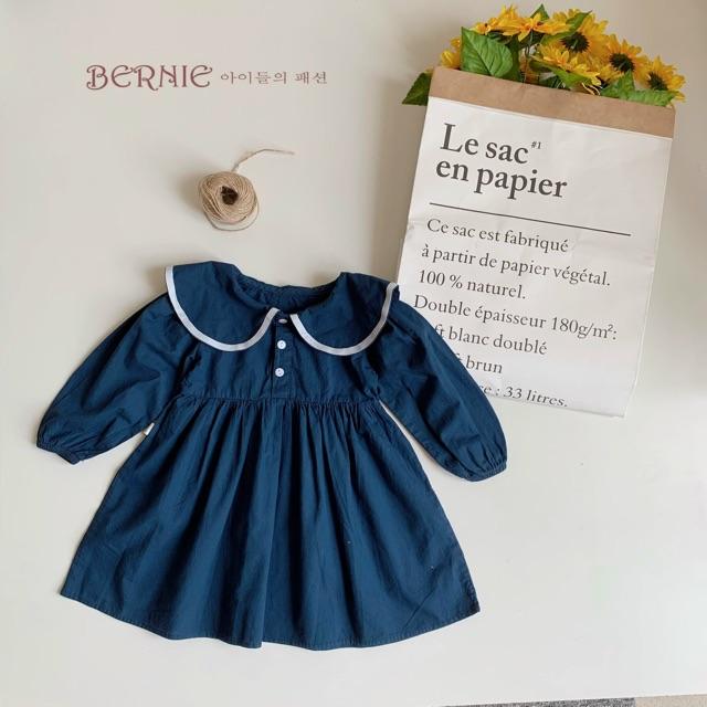 Váy thô hàn thuỷ thủ điệu đà cho bé