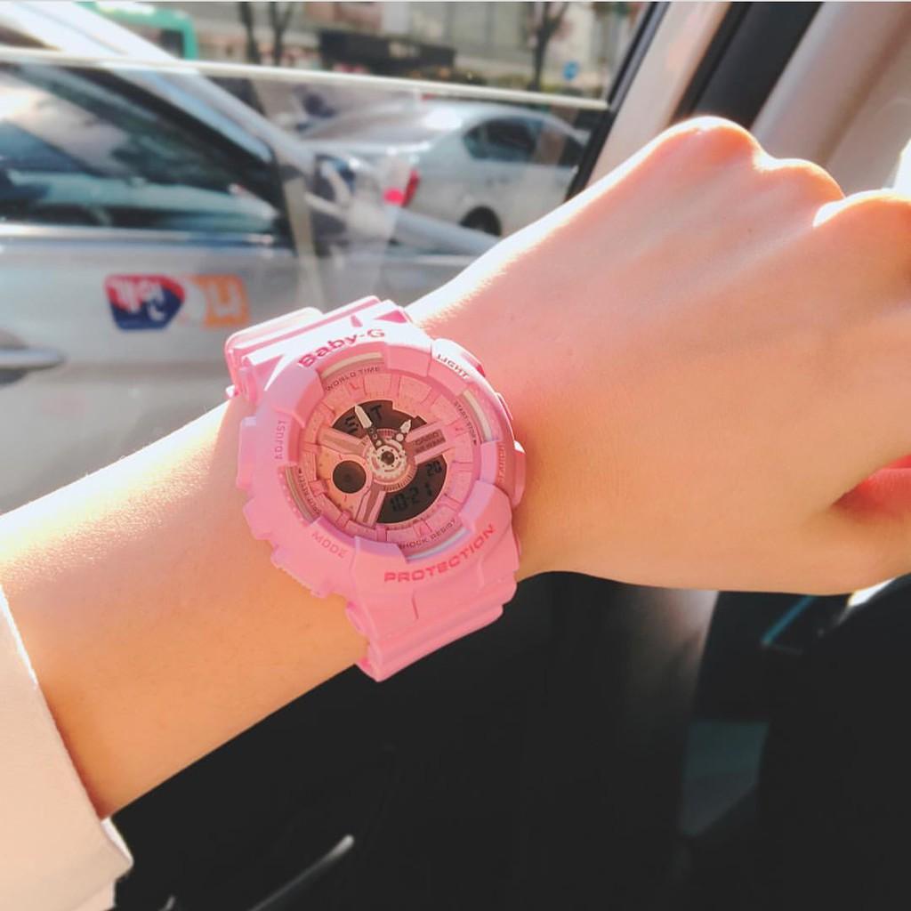 Đồng hồ nữ dây nhựa Casio Baby-G chính hãng Anh Khuê BA-110-4A1DR