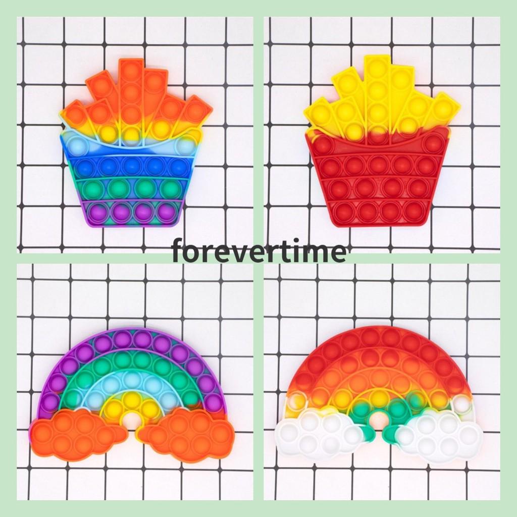 Đồ chơi bấm bong bóng độc đáo sáng tạo đầy màu sắc giảm căng thẳng có thể sử dụng để giáo dục sớm dành cho trẻ em