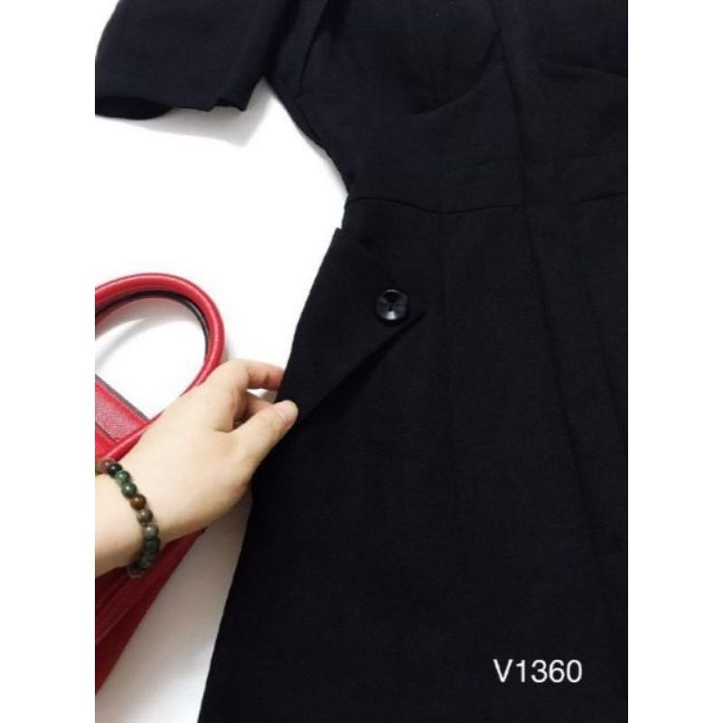 Mặc gì đẹp: Bồng bềnh với Đầm Xòe Nhẹ Tay Bo Phồng (Size S-M-L-XL) cổ lật kiểu lai xẻ V nhỏ HÀNG THIẾT KẾ