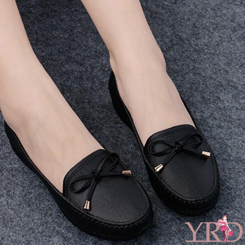 Giày Casual nữ mũi tròn thoải mái màu trơn thoải mái