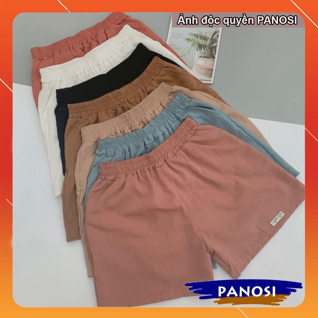 quần đùi nữ mặc nhà ống rộng short ngắn vải đũi mềm mát thấm hút mồ hôi - Q370