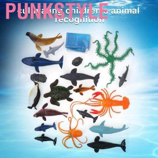 Punkstyle Sea Ocean Animals Plastic Kids Children Simulation Animal Model Toy for Education