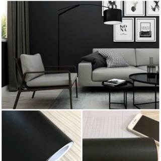 10m giấy dán tường màu đen keo sẵn khổ 45 cm
