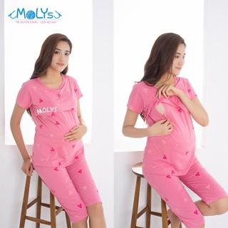 Bộ bầu và sau sinh cho con bú Molys M8002 cotton mềm mịn thumbnail