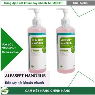 Dung dịch rửa tay khô ALFASEPT HANDRUB 500ml - sát khuẩn tay nhanh thumbnail