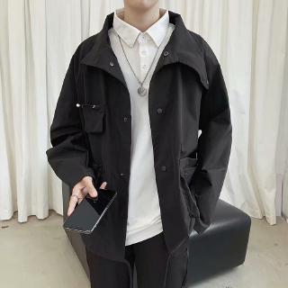 New Men's Thin Jacket Coat Casual Comfortable Big Pocket Men's Top Trend Essential