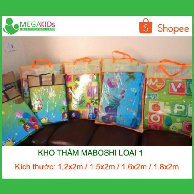 Thảm trẻ em maboshi 2 mặt giá tốt nhiều mẫu mã và kích thước 1.8x2m