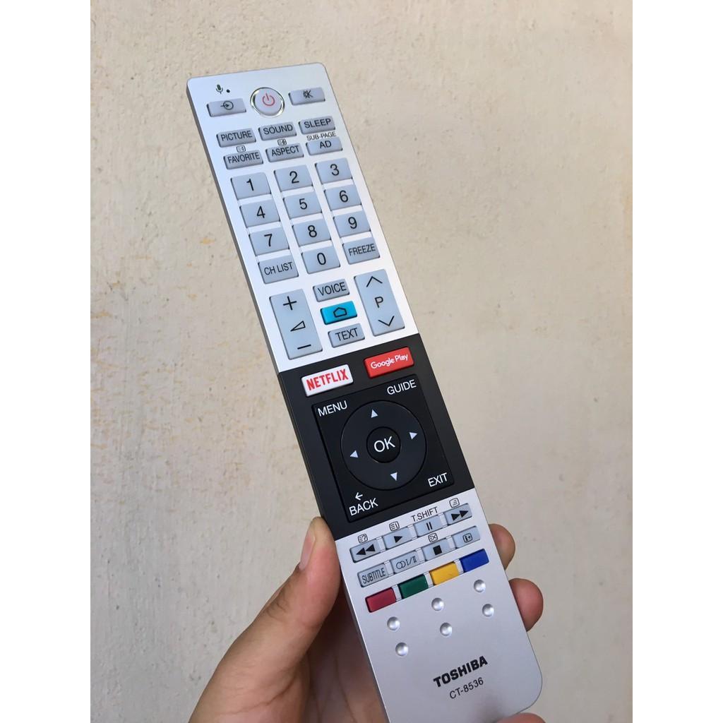 Remote Điều khiển tivi Toshiba giọng nói CT 8536 - Chính hãng, Tặng pin !