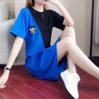 277Q878 Summer Wear New Thin Lazy Style Korean Sports Small Fashion Loose Skirt Casual Dress