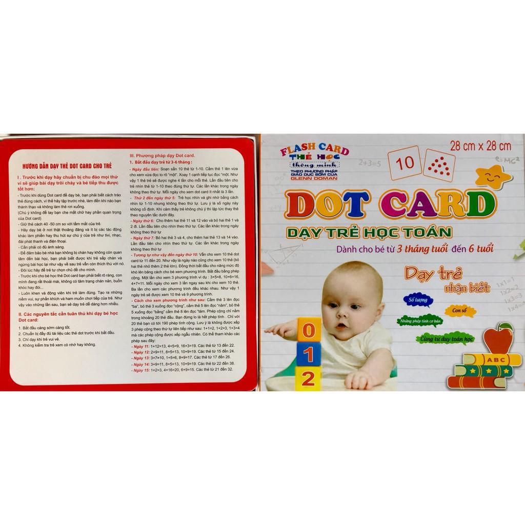 [Kid's Toy] Bộ thẻ học Dotcard dạy trẻ học toán theo phương pháp glenn doman [Giá lẻ rẻ như giá...