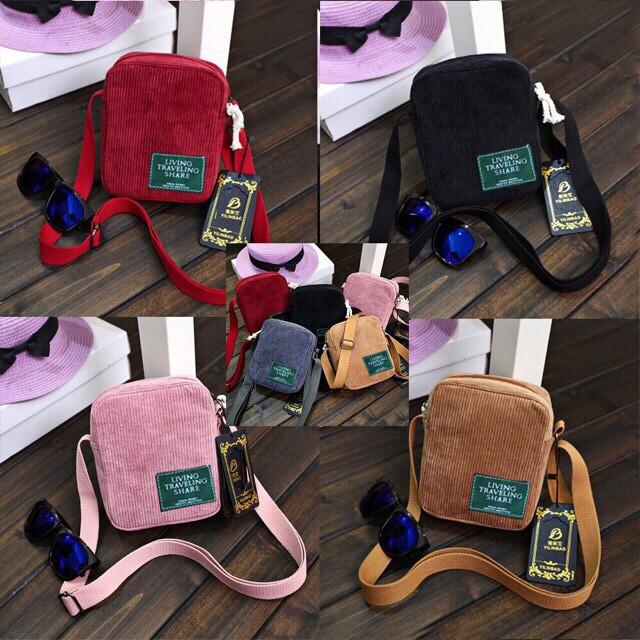 Túi đeo chéo living mini 2 lớp Quảng châu