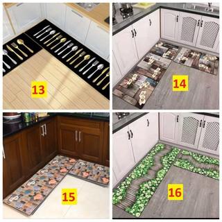 Bộ 2 thảm bếp 3d,chống trơn trượt (40*60 + 40*120 cm)-3d-004 - hình 1