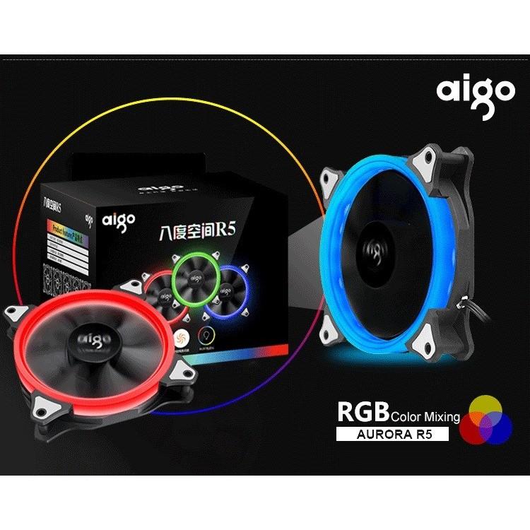 Bộ 5 quạt LED AIGO RGB 12cm + mạch điều khiển - 2515113 , 215522603 , 322_215522603 , 799000 , Bo-5-quat-LED-AIGO-RGB-12cm-mach-dieu-khien-322_215522603 , shopee.vn , Bộ 5 quạt LED AIGO RGB 12cm + mạch điều khiển