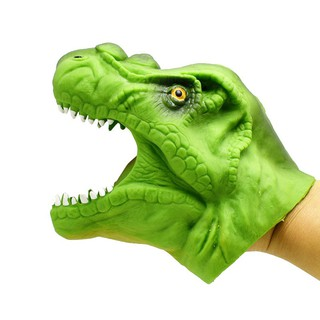 Soft TPR Dinosaur Hand Puppet Animal Head Figure Toys Gloves Children Story