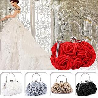 Túi cầm tay cho nữ thiết kế hình hoa hồng thời trang