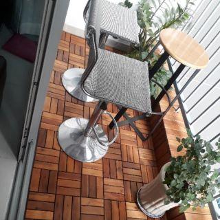 Sàn gỗ lót ban công . Ngoài trời ( sơn pu 3 lớp )