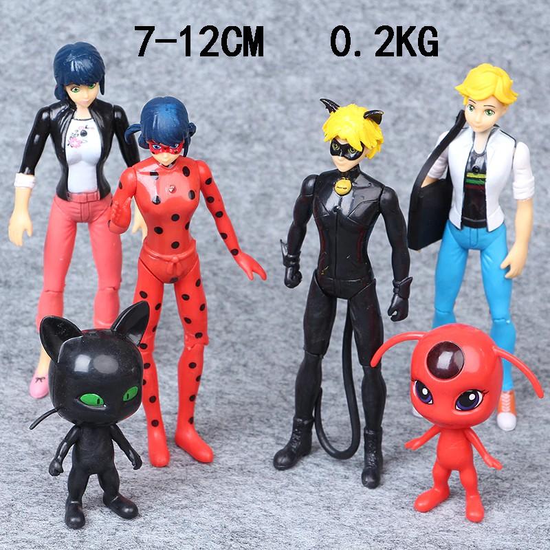 Bộ mô hình 6 nhân vật phim hoạt hình Miraculous Ladybug