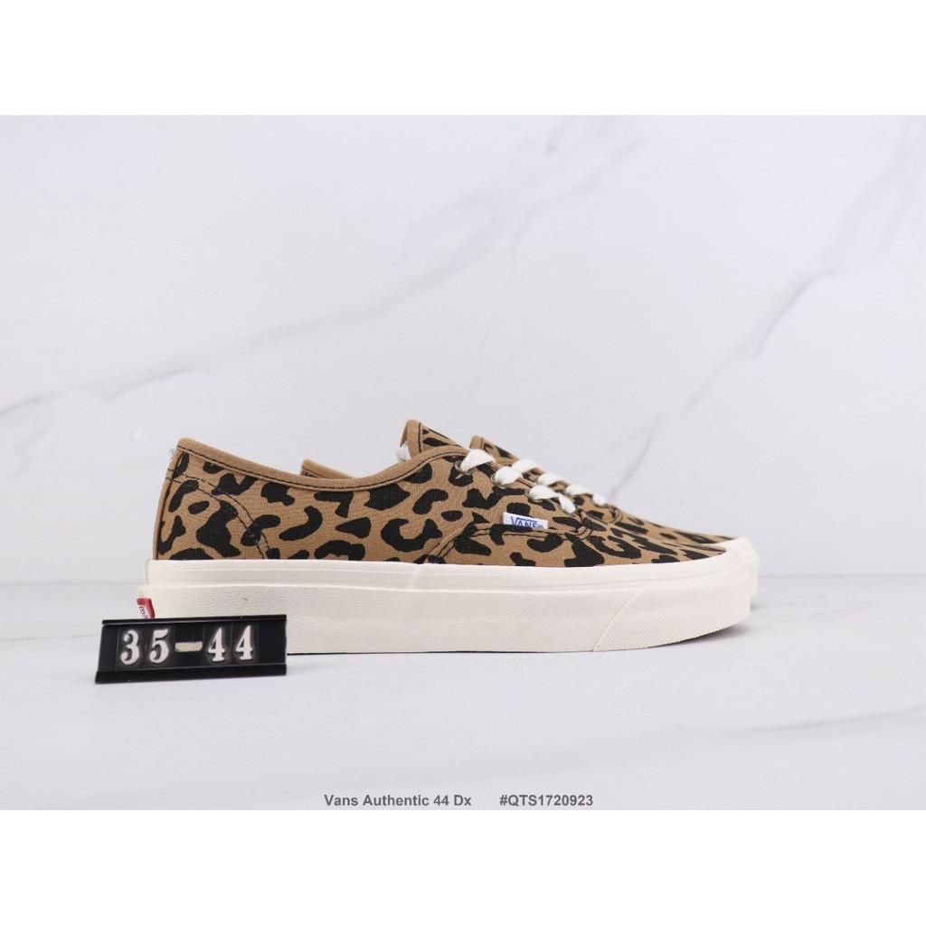 Vans Authentic 44 Dx Vans low-top casual shoes Anaheim series Leopard print limited canvas Vulcanized sole 35-44 #QTS1720923
