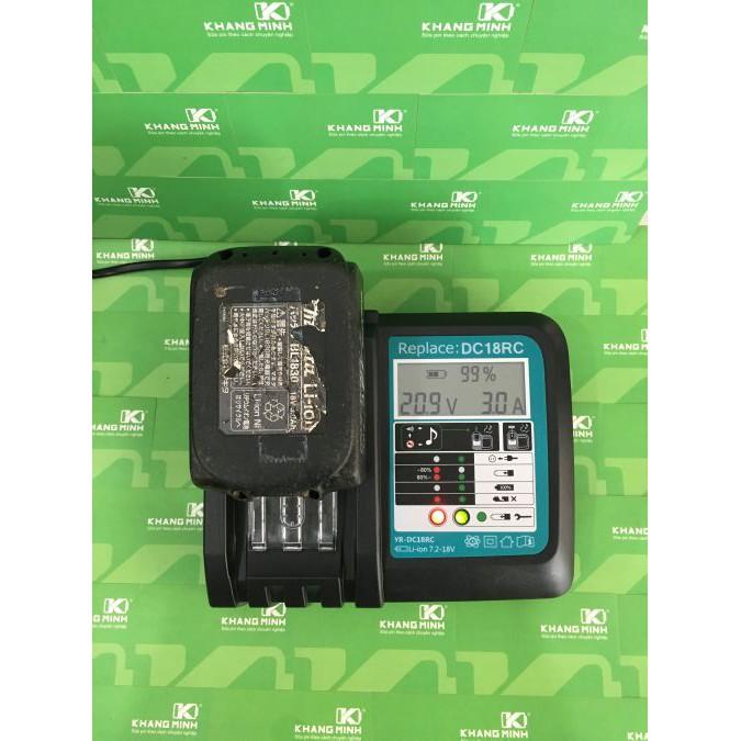 KM Sạc pin Makita 14.4V - 18V Li-ion mạch zin, có màn hình LCD, dòng sạc 3A. Sử dụng điện 110 - 220 - 2915112 , 1214082601 , 322_1214082601 , 650000 , KM-Sac-pin-Makita-14.4V-18V-Li-ion-mach-zin-co-man-hinh-LCD-dong-sac-3A.-Su-dung-dien-110-220-322_1214082601 , shopee.vn , KM Sạc pin Makita 14.4V - 18V Li-ion mạch zin, có màn hình LCD, dòng sạc 3A. S