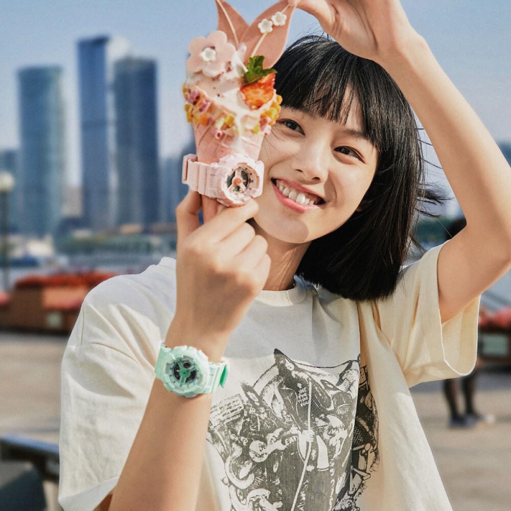 Đồng hồ nữ dây nhựa Casio Baby-G chính hãng Anh Khuê BA-110PI-2ADR
