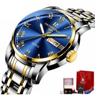 Đồng hồ Ontheedge nam dây thép fullbox RZY031 (demi xanh) thumbnail