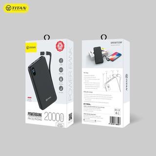 Pin dự phòng TITAN P25 20.000mAh kèm cáp iPhone & Micro thumbnail