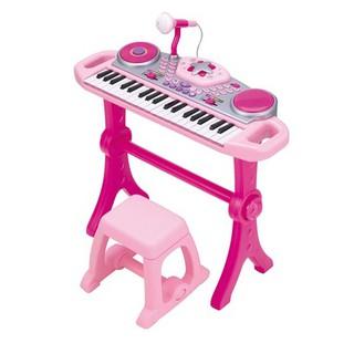 Đàn organ kèm mic và bàn DJ