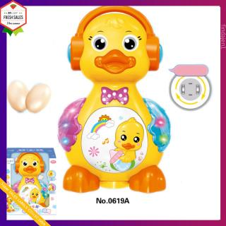 Walking Duck Children Electric Early Education Puzzle Raw Laying Eggs Toy with Light