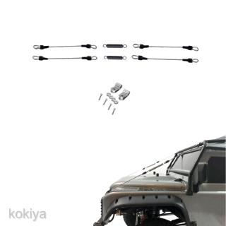 1:10 Scale Durable Steel Rope 4Pcs for Traxxas RC4WD Crawler RC Truck Body