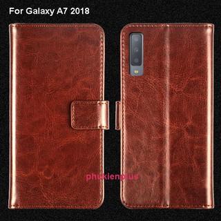Bao da Samsung Galaxy A7 2018 Flip Wallet dạng ví đa năng