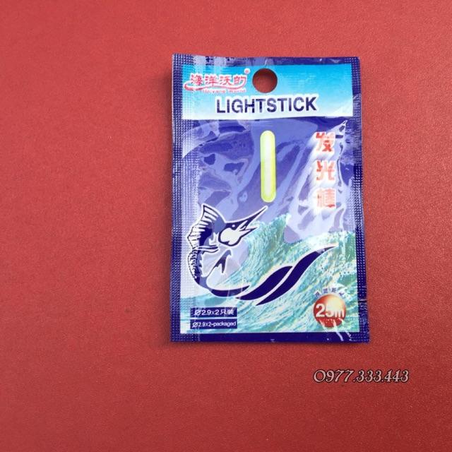 Que sáng huỳnh quang lightstick dành cho câu cá đêm