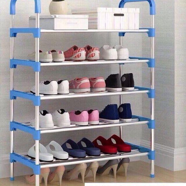 Kệ để giày dép 5 tầng khung inox