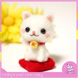 [Len chọc có hướng dẫn] Bộ kit len chọc mèo thần tài