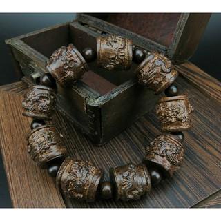 [RẺ VÔ ĐỊCH]Vòng đeo tay Phong Thủy, GỖ Thủy Tầm Mộc, Gỗ Thần Mộc, Gỗ Trầm Tích, Handmade, Khắc Thủ công.