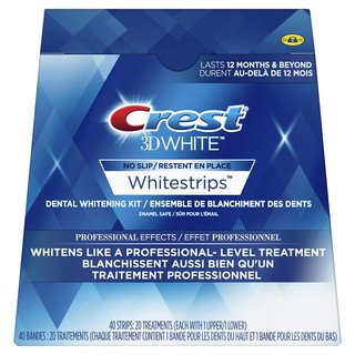 [Fullbox 20 gói] Miếng dán trắng răng Crest 3D White Professional Effects