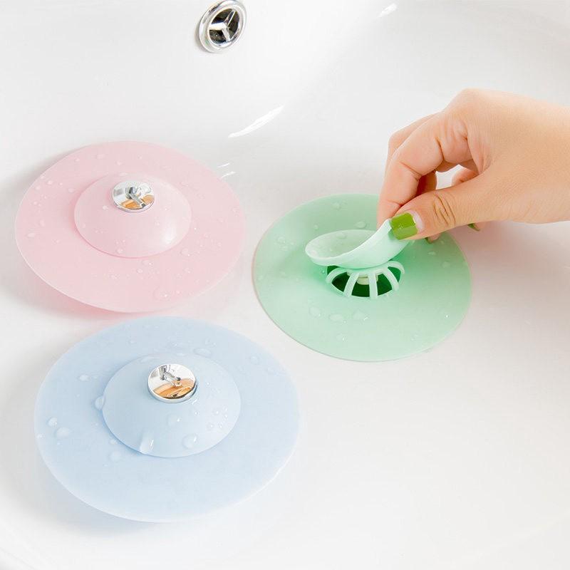 Nắp đậy lọc rác bồn rửa chén bát silicon, bịt nắp cống ngăn chặn khử mùi hôi nhà vệ sinh, thông tắc thoát nước sàn