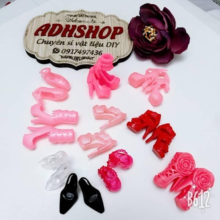 Set 10 đôi giày búp bê barbie 30cm