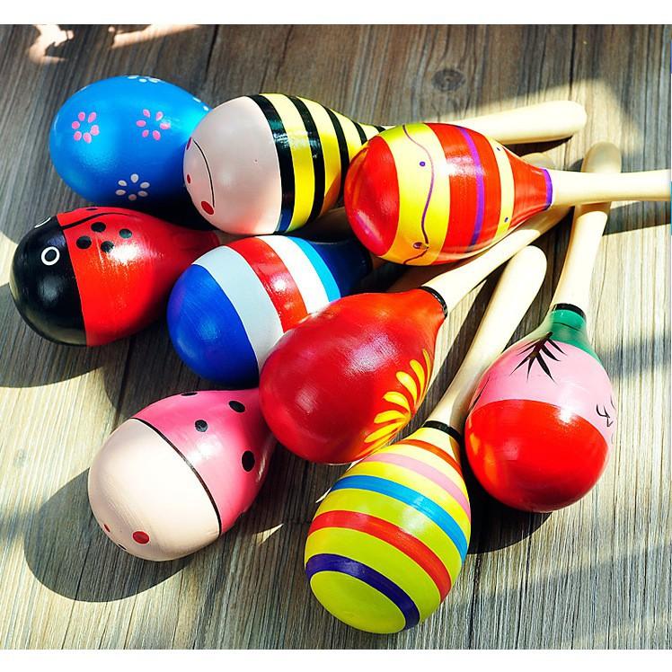 □❐Đồ chơi Wabooks – Lục lạc gỗ đầu tròn tạo âm thanh Giúp bé rèn luyện thói quen đọc sách từ Dành cho lứa tuổi