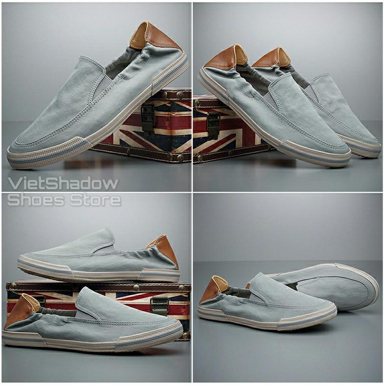 Slip on nam - Giày lười vải nam cao cấp - Mũ giày bằng polyester (gió) chống thấm 4 màu tuyệt đẹp - Mã 20610