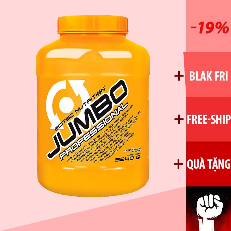 SỮA TĂNG CÂN TĂNG CƠ Scitec Jumbo professional 3240g (TẶNG QÙA) giá rẻ